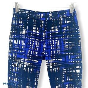 H&M Blue  Abstract Ankle Chino Pants 6